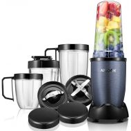 AICOOK Blender, Aicook Smoothie Blender, 780W High-Speed Personal Blender, 15-Piece Smoothie Maker/Mixer Included 4-Piece BPA-Free Blender Bottles, Two SUS 304 Stainless Steel Blades, Gre