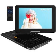 APEMAN 2020 Upgrade 17.9 Portable DVD Player with 15.5 Large Swivel Screen/Remote Control Support SD Card/USB/TV/External Speaker Built-in Rechargeable Battery for Kids/Parent, Car