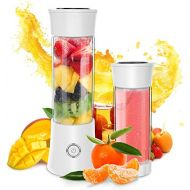 Dapai Portable Blender, Personal Smoothie and Shake Blender, Mini Blender, Electric Shaker Bottle with USB Rechargeable for Travel Outdoor and Home Kitchen (FDA, BPA free)