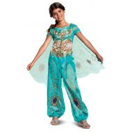 Disguise Disney Princess Jasmine Aladdin Classic Girls Costume, Teal