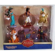 Aladdin Figurine Playset Diamond Edition Disney Collection 6 Figures (Princess Jasmine, Rajah, Jafar, Magic Carpet, Sultan)