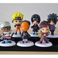 Fallhuoz 6pcs/lot 7cm Japan Jump Comics Naruto Action Figures Kakashi Sakura Sasuke Itachi Obito Gaara PVC S Model Figurine