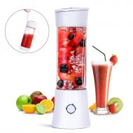 Portable Blender, Fityou 6-Blade Personal Glass Smoothie Fruit Mixer Juicer Cup,USB Rechargeable Multifunctional Travel Blender for Shakes and Smoothies,with 4000mAh Rechargeable B