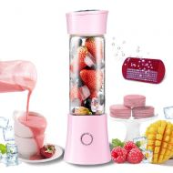 Fundich Portable Blender, Personal Rechargeable USB Blender, Smoothie Travel Blender with 13 oz Glass Juicer Cup, Six Blades 4000mAh, BPA Free