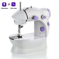 HYCZW Sewing Machine, Mini Portable Small Compact Lightweight Household Handheld Multi Function Sewing Machine, Household Sewing Machine, Electric Sewing Machine, for Beginners wit