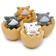 HanYoer 4 pcs Lovely Animal Characters Toys Figurines Playset, Garden Cake Decoration, Cake Topper