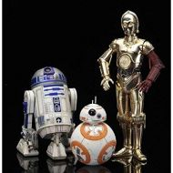 壽屋(KOTOBUKIYA) Star Wars ArtFX+ C-3PO & R2-D2 With BB-8 Statue Pack (The Force Awakens) (製造元:Kotobukiya) [行輸入品]