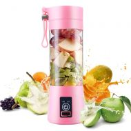 상세설명참조 Personal Juice Blender, Electric USB Portable Juicer Cup for Shakes, Smoothies and Food Prep Portable Juice Machine with 4 Blades, 2000mAh Rechargable Battery