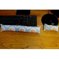 LadyBugSewn Blue Rose Wrist Rest, Keyboard Wrist Rest, Mouse Wrist Supports