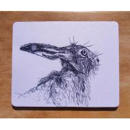 NoBrand Hare Mousemat Mousepad Wildlife Gift Computer Mat Postable