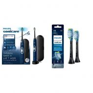 Philips Sonicare Protective Clean 6100 Whitening Rechargeable Electric Toothbrush With Pressure Sensor and Intensity Settings, Hx687149, Navy Blue, 1 Count