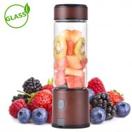 Portable Blender USB Rechargeable, H HUKOER Personal Blender 5200mAh, 15oz Smoothie Blender with Sturdy Glass , 16500rpm Stainless Blades Blender, Perfect for Smoothies , Shakes an