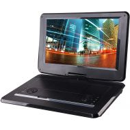 Sylvania 13.3-Inch Swivel Screen Portable DVD Player (SDVD1332) with USB/SD Card Reader