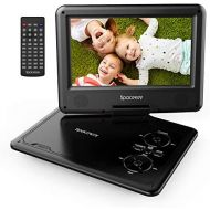 Portable DVD Player 11.5 with 5 Hours Rechargeable Battery by SPACEKEY, 9 Swivel Screen, Support USB/SD Slot and 1.8M Car Charger, Support Memory and Region Free (Black)