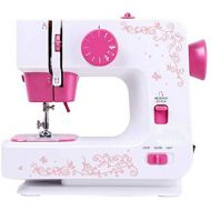 TangMengYun Mini Sewing Machine Household Electric Eating Thick Sewing Machine 12 Kinds of Stitching Multi-Function Sewing Machine