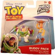 Toy Story 3 Buddy Pack - Space Ranger Buzz Lightyear & Big Arm Woody Mini Figures 2 Pack