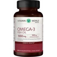 Vitamin World Omega-3 Fish Oil 1000 mg.