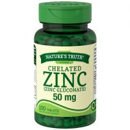 Walgreens Natures Truth Chelated Zinc 50mg Zinc Gluconate