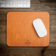 Werktat leather mouse pad mat mousepad vegetable tanned bio nature natural gift wife men women office desktop colleague christmas brother desk mens